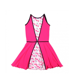 00020  LoFff jurk - Wit-  roze Z8112-01
