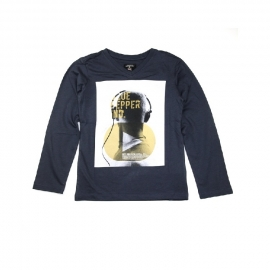 041 Blue Pepper shirt midnight headphone  214 maat 104 voordeel