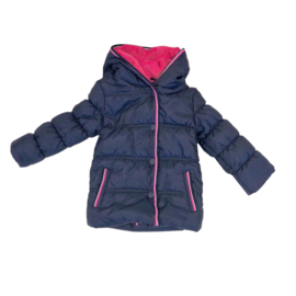 001 Far out meiden winterjas blauw roze wit model Hippo