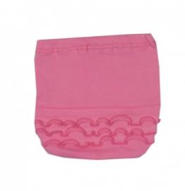 001 Hanssop broekje roze met roze roezeltje maat 50/56