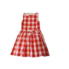 0006 IDO jurk rood witte jurk  maat 116