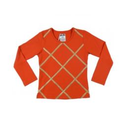 052 LoFff z7846-02 shirt oranje-goud