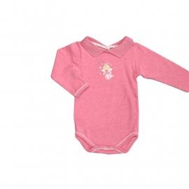 001 Hanssop  roze romper engel maat 74/80