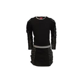 15 LoFff  jurk Ruffly black Z8416-95