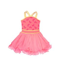 000040 LoFff  classy jurk Bright Peach-Z8164-01