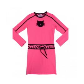 001 LavaLava jurk cat zwart-roze 19-212