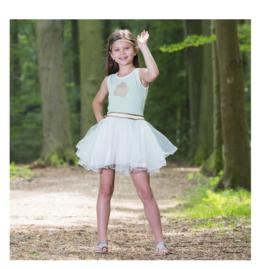 000050 LoFff jurk - Wit- mint groen Z8181-01