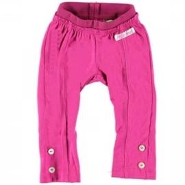 01 Little Feet legging  fuchsia p50b3 maat 80