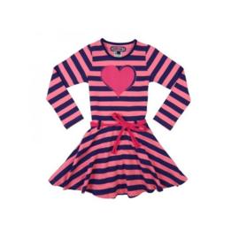 0001 Happynr1 Jurk -Pink/Blue- HP-18-205
