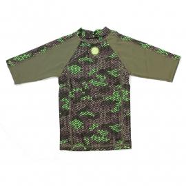 00001 Zee & Zo Aina camo star green UV-werend shirt maat 86
