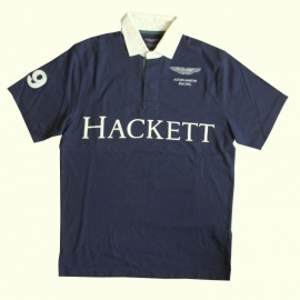 01 Hackett polo blauw maat S