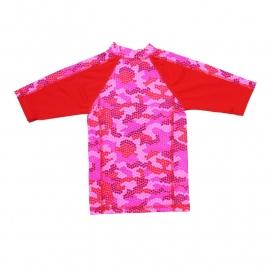 00001 Zee & Zo Aina Camo Star red UV-werend shirt maat 98