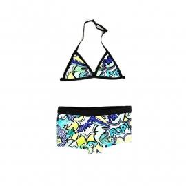 001 Just beach bikini panama Cartoon Blue
