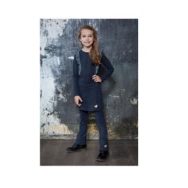 00001 LoFff ruffle jurk blauw Z8405-57