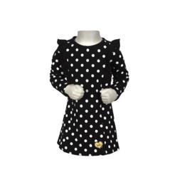 00001  LoFff jurk ruffles black B8405-95