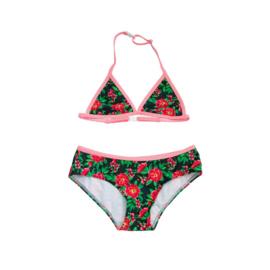 001 ZEE & ZO Lily Flower Grey bikini