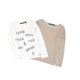 08 IKKS shirt wit+pullover  maat 128