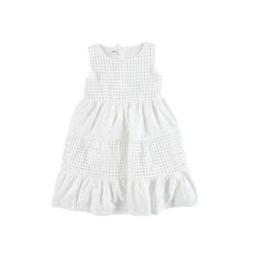 0006 IDO jurk wit broderie maat 116