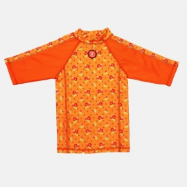 Zee & Zo Aina flower orange UV-werend shirt maat 80