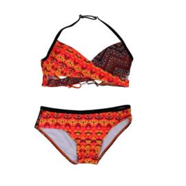 001 ZEE&ZO Bikini Paraiso Ikat Red