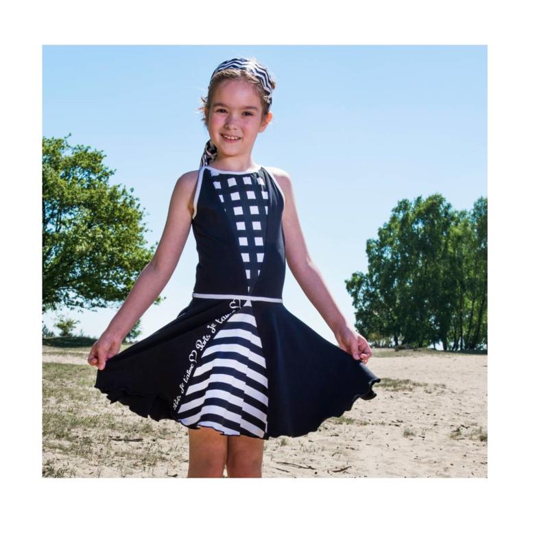 00003  LoFff jurk - zwart-wit Z8112-04