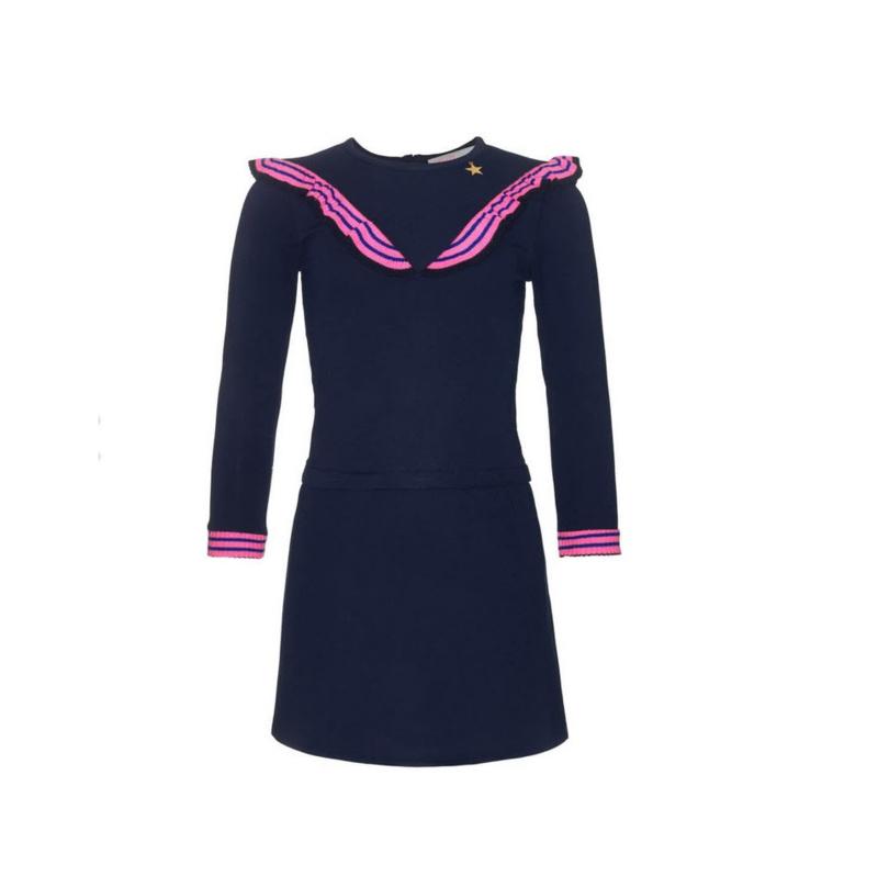 001 Mim-Pi 74  jurk blauw