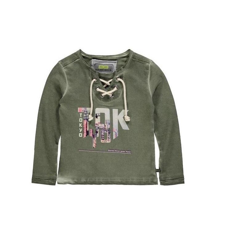 Bomba Cords T-shirt groen w/Tokyo B15-219 maat 110