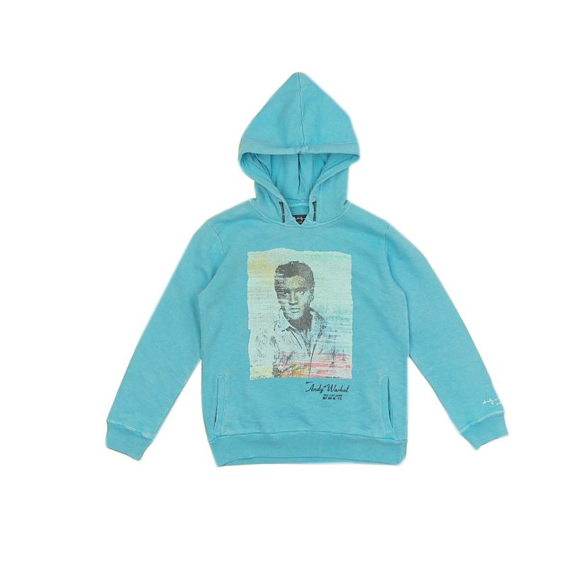 06 Pepe sweatshirt blue Andy Warhol  maat 116