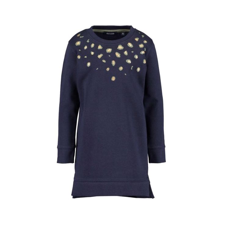 3 Blue Seven jurk blauw 773604
