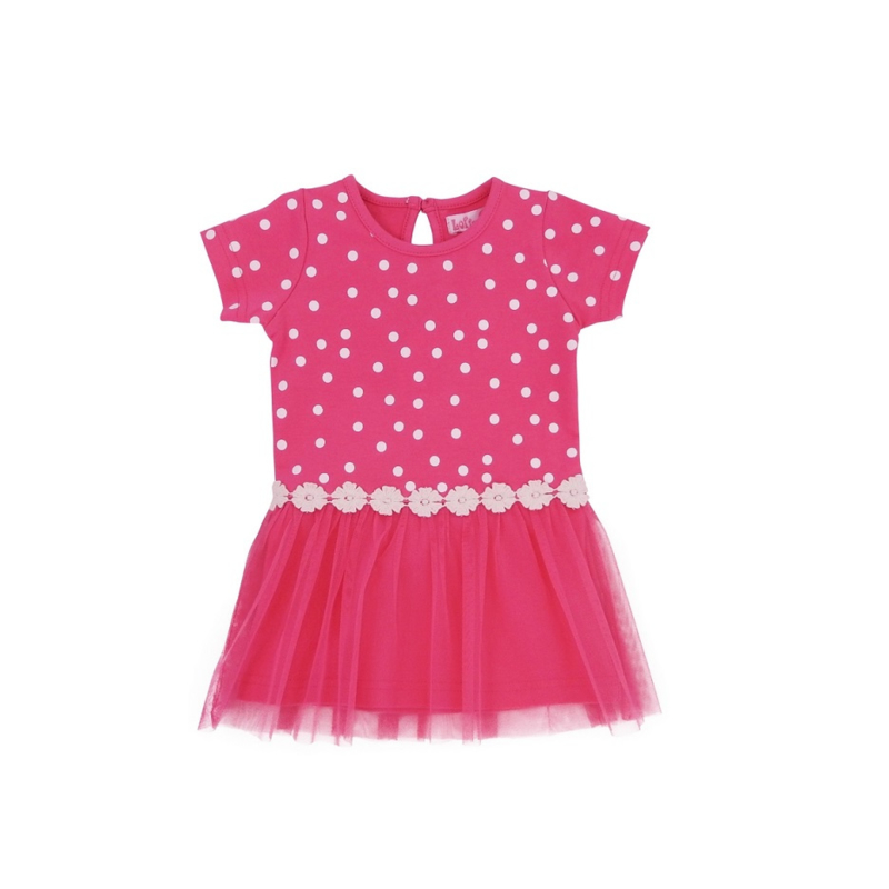 00  LoFff jurk dotty roze B8306-01