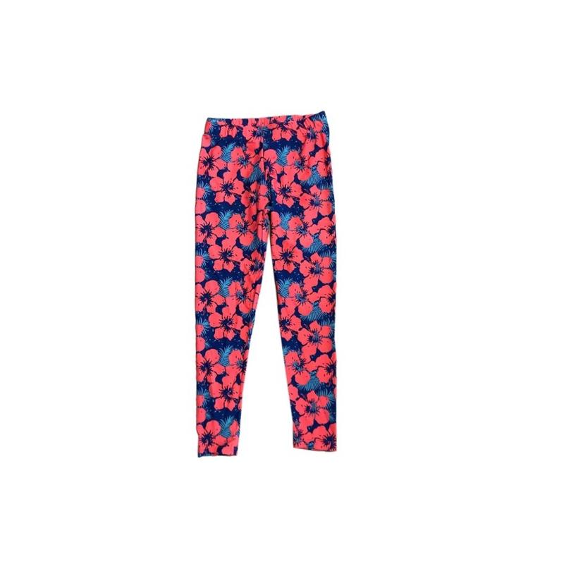 0010 Far out legging bloemen roze-blauw