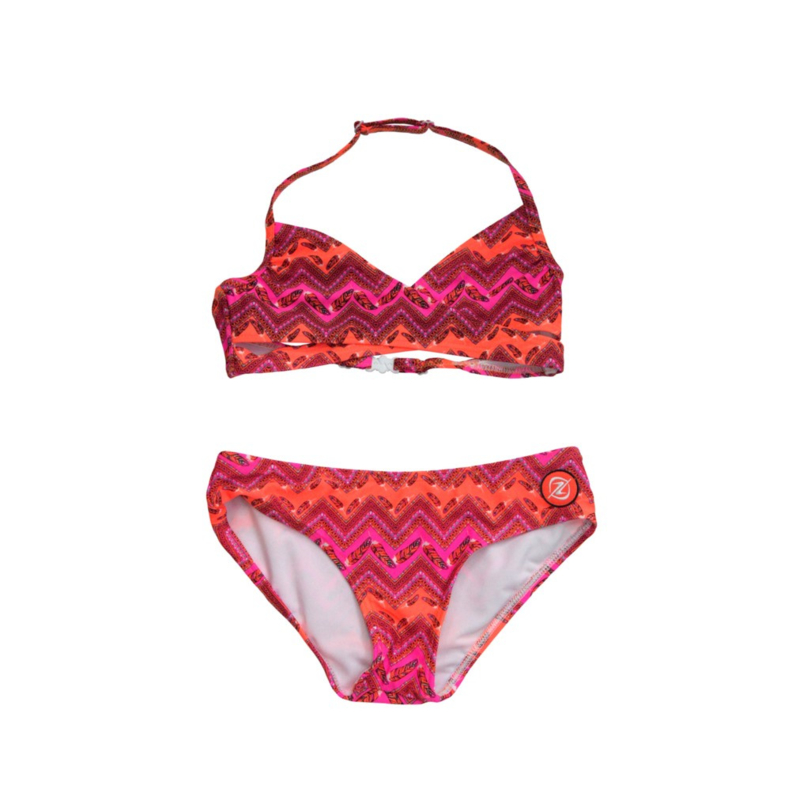 001 ZEE & ZO Tulip Flower Orange bikini