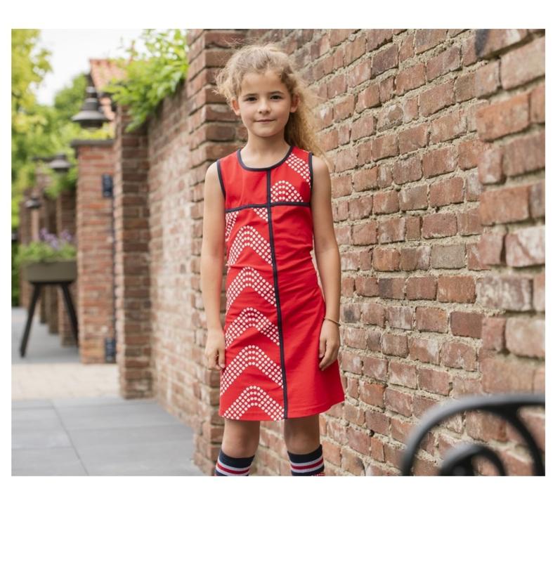 000013 LoFff jurk cordoba rood  Z8303-03