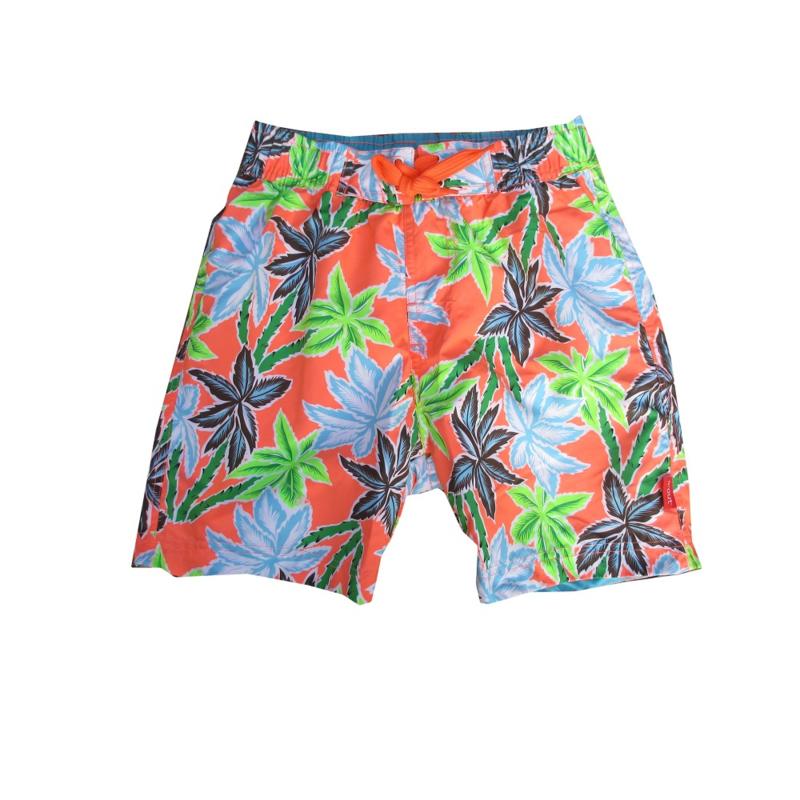 Far Out zwemshort 719214 oranje blauw-groen wit palm