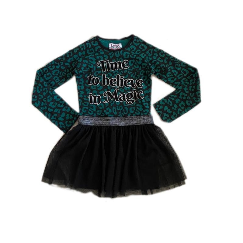 001 LavaLava jurk  19-248 groen