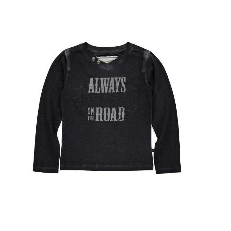001 Bomba  Boys shirt Black B15-232 maat 116