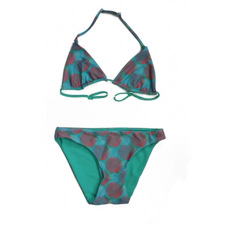 01 ZEE&ZO Bikini Baia Da Sancho Spiral Green Reversible