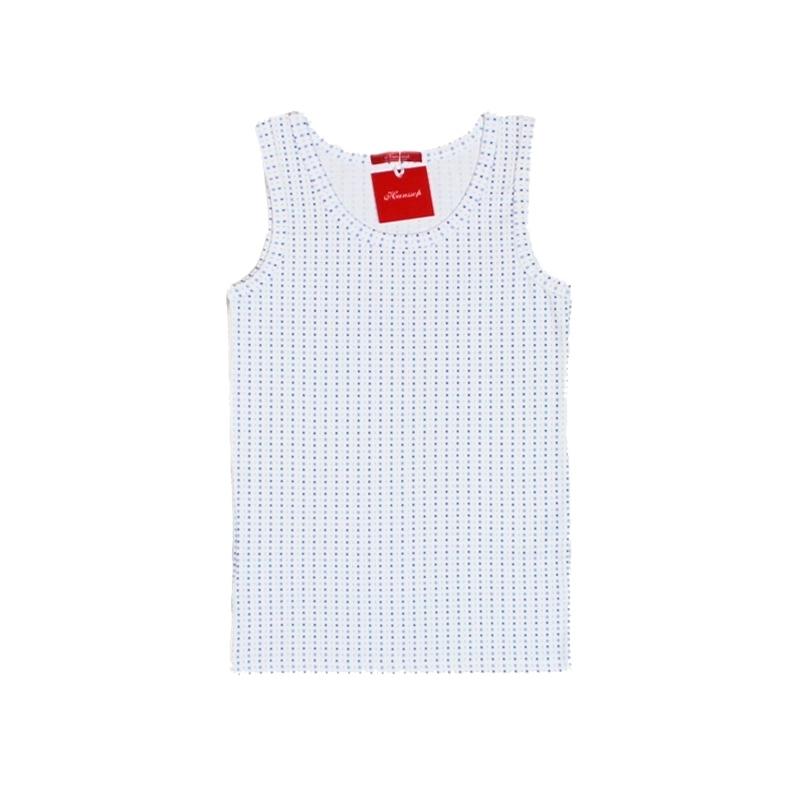 10 Hanssop  hemd blauw geruit maat 140
