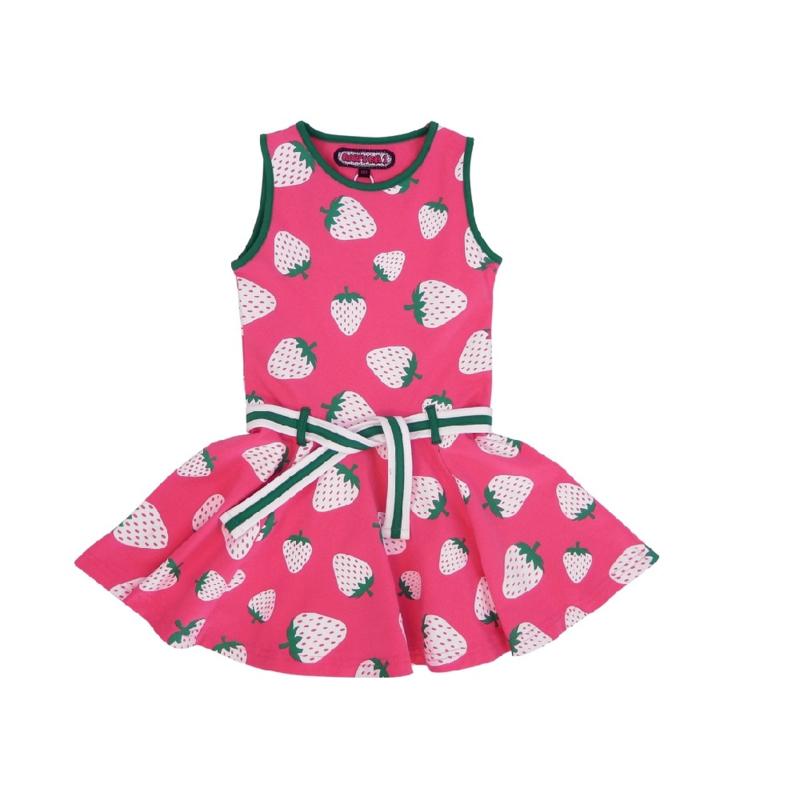 003 Happynr1 dancing jurk -Strawberry- 19-129