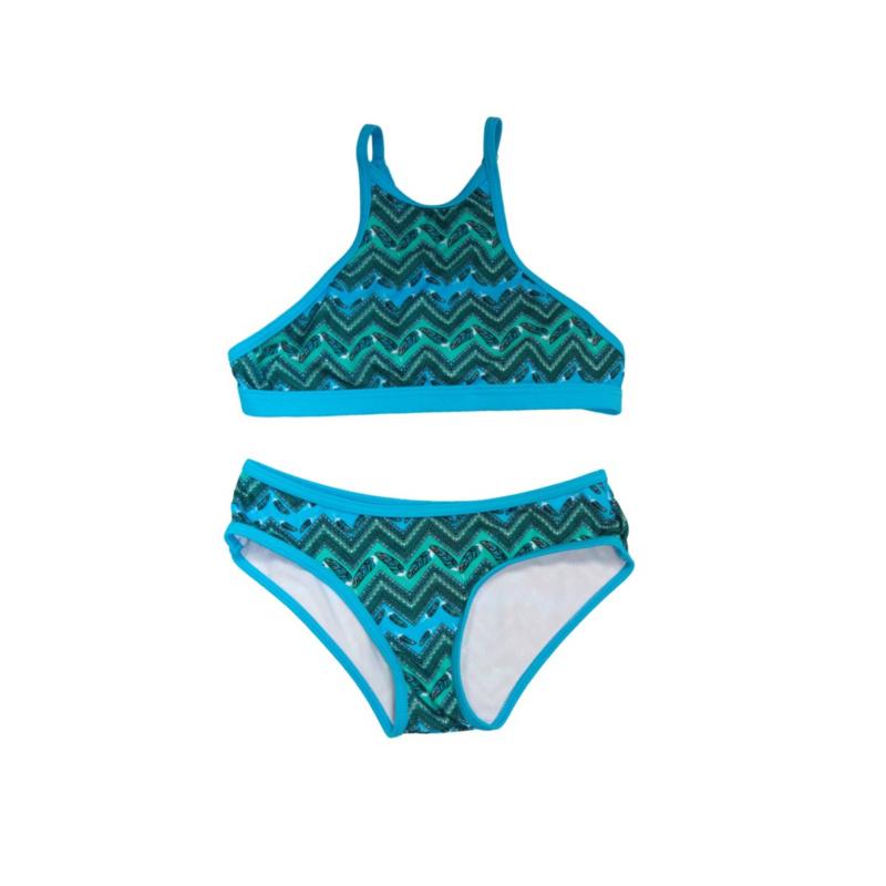001 ZEE & ZO Buttercup Feather Blue bikini
