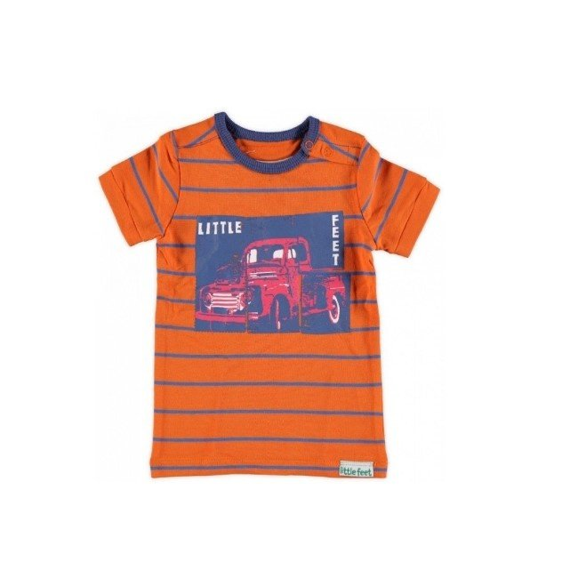 Little Feet shirt Orange T06B4 maat 80