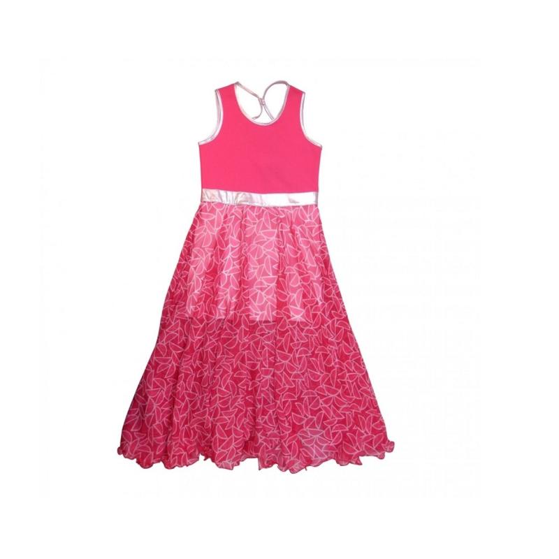 19 LoFff  Maxi jurk -  roze -Z8106-01