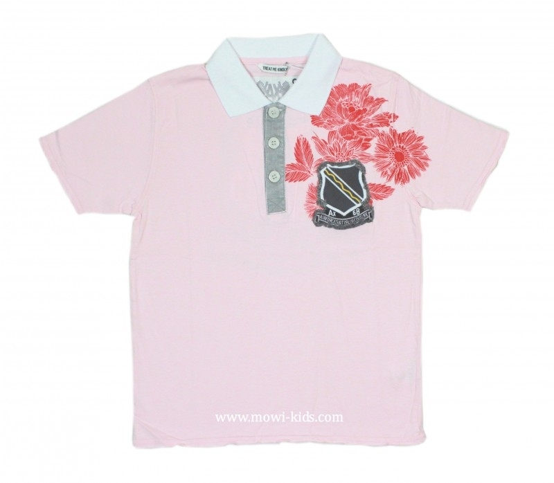 0001 Airforce poloshirt roze 6765 maat S, voordeel