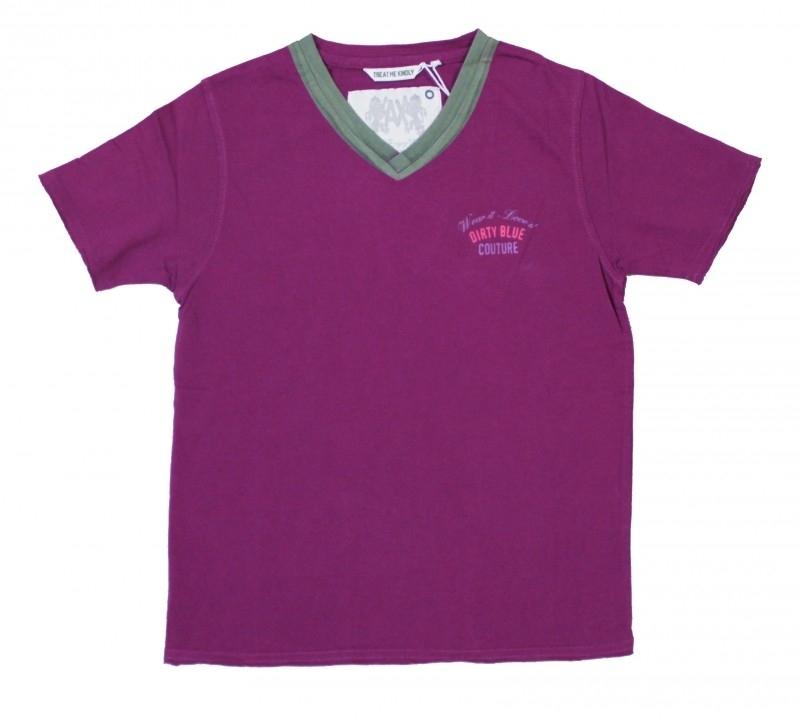 00016 Airforce shirt  paars (5166)6166 maat  S voordeel