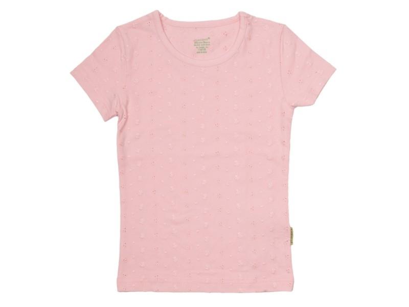 01 Claesen`s roze broderie shirt 8285 maat 62/68