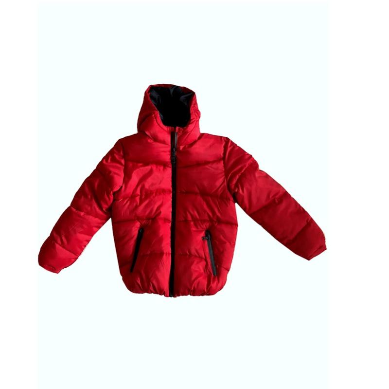 0010 DEX winterjas rood maat 12 (146-152)