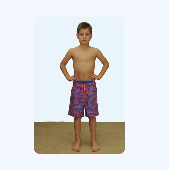 Far Out zwemshort 019957 blauw-oranje