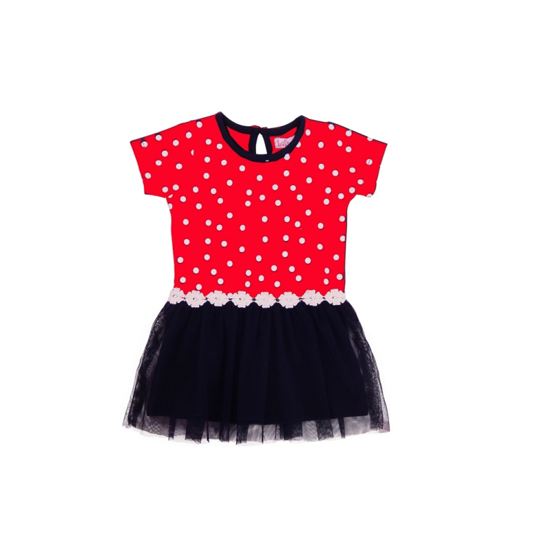 00001  LoFff jurk dotty blue-red B8305-02