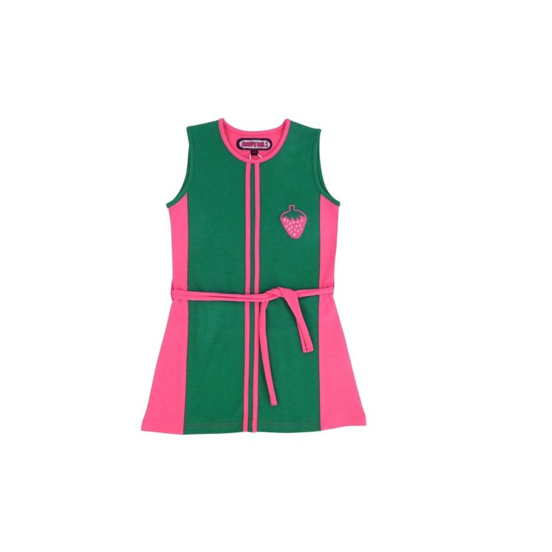 003  Happynr1 jurk vertical stripe 19-125