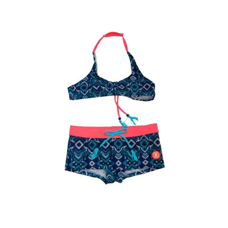 001 ZEE & ZO Daisy Boho Blue bikini